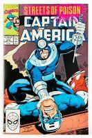 Captain America #374 (1990 Marvel) Streets of Poison! Daredevil Bullseye! NM-