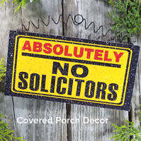 No Solicitors * Soliciting Sign * for covered porch area only * USA * DecoWords
