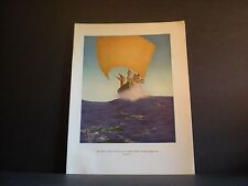 Maxfield Parrish original book plate from 1919 The Arabian Nights vintage ed. NR