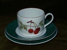 ROYAL WORCESTER Green Evesham Trio . Cup Saucer & Plate - Mint Condition