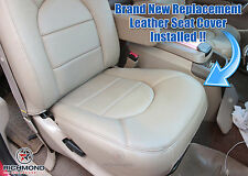 2000 Ford F250 F350 Lariat -PASSENGER Side Bottom Genuine Leather Seat Cover Tan