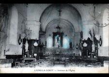 LYONS-LA-FORET (27) Intérieur de l'EGLISE en 1929