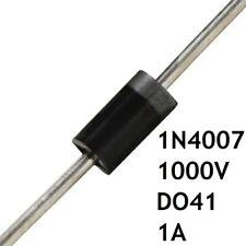 Lot de 10 Diodes 1N4007 1000V 1A DO-41 Pont Redresseur Axial Commutateur THT FR