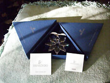 Nib 2013 Swarovski Retired Snowflake Crystal ornament W/both boxes and Coa