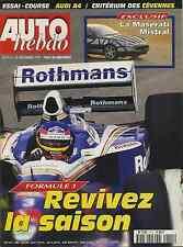 AUTO HEBDO n°1111 du 12 Novembre 1997 Bilan F1 1997 Audi A4QUATTRO SUPERTOURISM