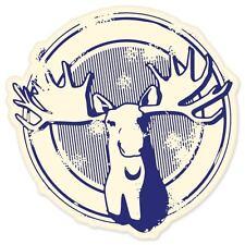 "Moose hunting vinyl window bumper sticker 4"" x 4"""