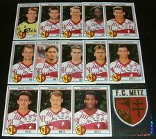 PANINI FOOT 93 FC METZ COMPLET FOOTBALL SAISON 1992-1993 ST SYMPHORIEN GRENATS