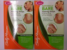 4 BOXES X Sally Hansen Naturally Bare Waxing Strips for Faces & Little Spaces