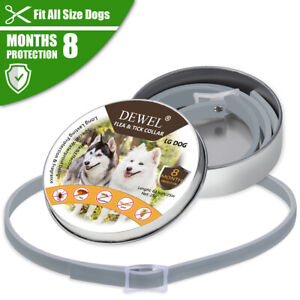 63cm Dewel Flea and Tick Collar for Small Large Dogs - 8 Month Protection