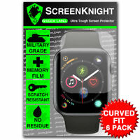 ScreenKnight Apple Watch Series 4 (44MM) SCREEN PROTECTOR - CURVED FIT - 6 PACK