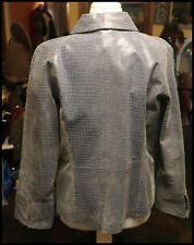 Women's Leather Jacket, Steel Blue Unique XL