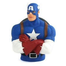 Official Marvel Comics Captain America Money Bust Bank - Box Resin Figure 8""