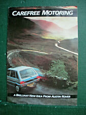 Austin Rover Carefree Motoring Leaflet with prices -4 sides Mini Metro Montego