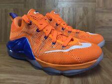 RARE🔥 Nike LeBron XII 12 Low Bright Citrus Royal Sz 5.5Y Boys Shoes 744547-838