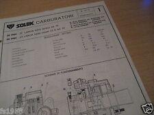 LANCIA FULVIA BERLINA ED. 72 U. COUPE 1,3 S ED. 72 SOLEX 35 PHH CARBURATORE piano