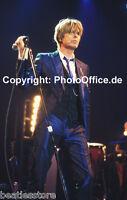 David Bowie in München 2002, seltenes 30x45cm tolles Konzert Tour Foto Poster
