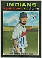 2020 Topps Heritage LOGAN ALLEN Real One Autograph Rookie #ROA-LA Reds RC