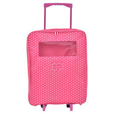 """18"""" 2 Dolls Travel Carrier Trolley Case w/ Bed And Bedding Girls Christmas Gift"""
