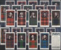 MITCHELL-FULL SET- CLAN TARTANS (2ND SERIES 25 CARDS) - EXC+++