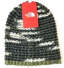 THE NORTH FACE Women's W Kaylinda Beanie Hat Green Navy OS  NWT