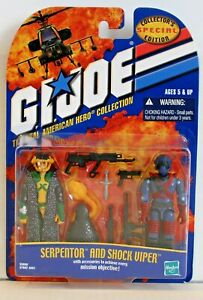 G.I. JOE Special Collector's Edition: SERPENTOR & SHOCK VIPER, 2001, MOC! RARE!