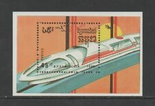 KAMPUCHEA 1989 TRAMS & TRAINS M/SHEET *VF MNH*
