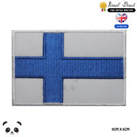 Finland National Flag Embroidered Iron On Sew On Patch Badge For Clothes etc