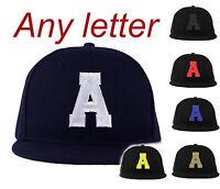 NEW BASEBALL CAP LETTER A HAT SNAP BACK  Adjustable Strap Unisex Mens Women