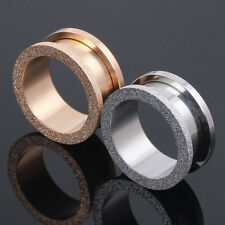 1 Pair Silver Rose Gold Glitter Surgical Steel Screw Fit Ear Plug Flesh Tunnel