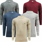Mens F&F Twisted Knitted Jumper Crew Neck Warm Winter Weave Sweater Pullover New