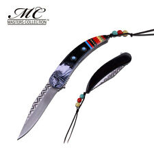 MC MASTERS COLLECTION American Indian Styled Spring Assisted Knife 3CR13 Steel