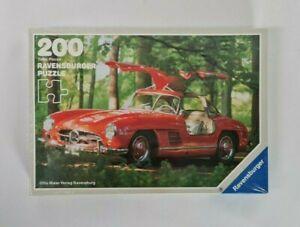 Vintage 1990's Ravensburger Mercedes Benz 300SL Jigsaw Puzzle Car 200 Pieces