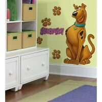 """37"""" Tall GIANT SCOOBY DOO Mural 8 WALL DECALS Paw Prints Stickers Room Decor New"""