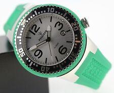 Runde Armbanduhren mit Silber-Armband und 100 m Wasserbeständigkeit (10 ATM)