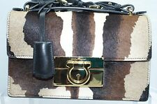 New Salvatore Ferragamo Black Aileen Clutch Women's Bag Crossbody Handbag