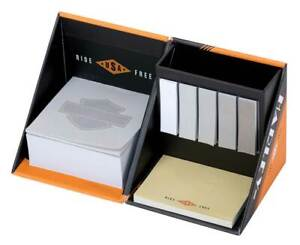 Harley-Davidson Ride Free Note Cube - 3.5 x 3.5 inches, Orange/Black HDL-20118