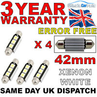 4 X 42mm 3 SMD LED 239 272 C5W CANBUS NO ERROR INTERIOR LIGHT FESTOON BULB WHITE