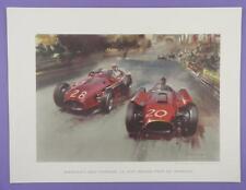 Maserati e Ferrari, MONACO GRAND PRIX-ORIGINALE 1950s Frank Wootton stampa