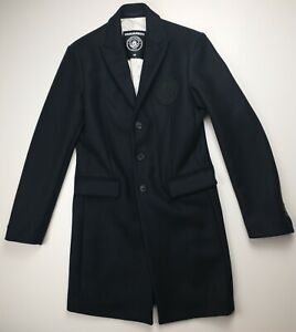 DSQUARED2 Manchester City Navy Trench Coat Wool Blend Player/Staff Issue Size 48