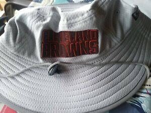 NWT NEW ERA RARE CLEVELAND BROWNS TRAINING CAMP GRAY BUCKET HAT SIZE L/XL