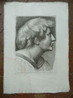 Kunstblatt Porträt Chierico Gravur Radierung Paolo Fidanza Raphael Vatikan 18th
