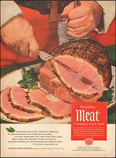 Vintage ad for American Meat Institute Santa Ham Knife   072417