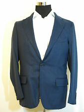 Andrea Campagna mens blazer sport coat jacket NEW! 50-40US Blue/Black cashmere!