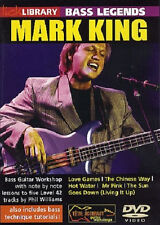 LICK LIBRARY BASS GUITAR LEGENDS MARK KING LEVEL 42 LEARN FUNK GROOVES AND MORE!