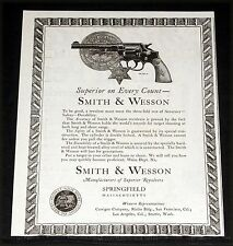 1925 OLD MAGAZINE PRINT AD, SMITH & WESSON REVOLVERS, SUPERIOR ON EVERY COUNT!