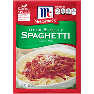 McCormick Thick And Zesty Spaghetti Sauce Mix, 1.37 oz Pack of 12