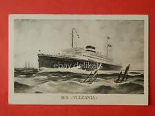 COSULICH LINE nave VULCANIA ship Trieste vecchia cartolina *