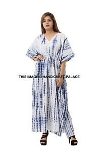 Tie Dye Women Beach Bikini Cover up Long Kaftan dress Summer Boho Maxi Dress