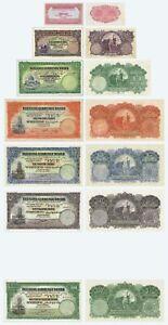 Palestine 7 Banknote Set 1927 - 1939 Copy Reproduction
