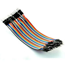 40pcs  Male to Male 2.54mm 1P-1P Jumper Connector Wire Cables 10cm For Arduino
